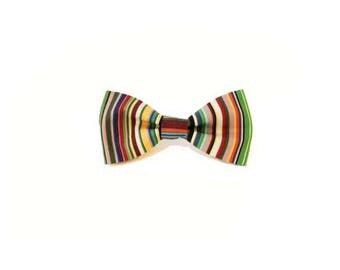 Deckchair Stripes Dog Bow Tie
