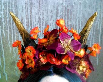 Halloween Gothic Party Horn Headdress