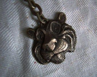 "Keychain, Silver Lion advertising ""ESSO"","