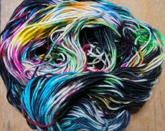 Kandinsky themed hand dyed yarn - Superwash Merino DK