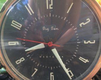 Vintage Westclox Big Ben Alarm Clock Mid Century Desk Clock Home Decor