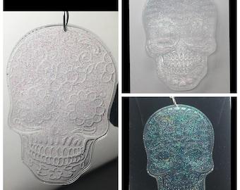 Shimmer glitter sugar skull earrings