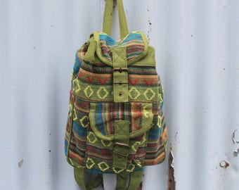 Backpack, small backpack, Nepal backpack, green