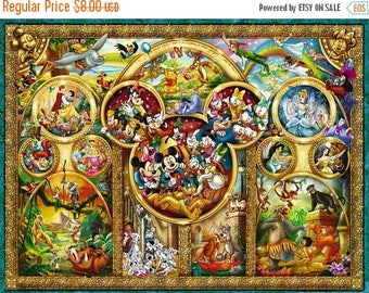 "disney best themes counted Cross Stitch disney best themes pattern needlepoint, needlecraft - 35.43"" x 26.57"" - L678"