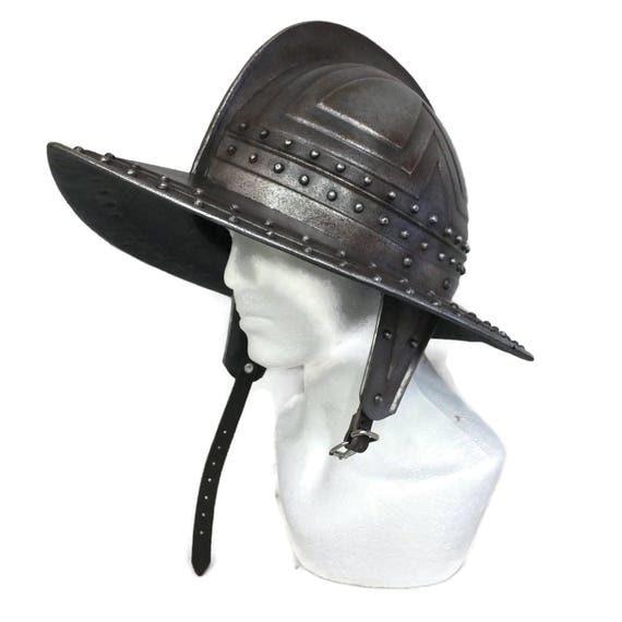 Larp Armor, Pikeman's Morion helmet, larp helmet, cosplay helmet, medieval helmet