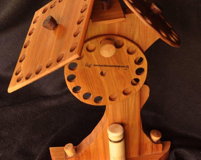 Hand made Thread/floss holder stand model200A (mixed wood)