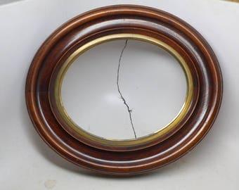 Vintage Wood Picture Frame - Antique Frame -Oval Picture Frame  - Exterior 13 3/4 x 12 Inches - Interior 10 X 8 Inches
