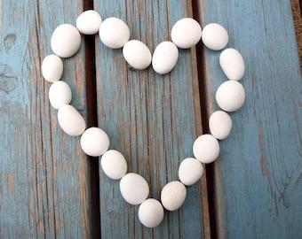 White Beach Pebbles, White Stones, Beach Stones, Sea Stones, Stone Beads, THE WHITE COLLECTION