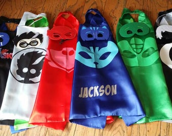 Ready to Ship! Cape and Mask Set! Birthday Party Packs! Party Favors!