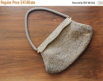 Summer Sale 1950's Evening Bag - Small Vintage Beaded Purse - 50's Opera Clutch
