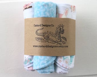 Woodland Cloth wipes- flannel wipes- baby washcloths- reusable cloth wipes