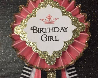 Birthday Girl Corsage... Birthday Corsage..  60th,  50th, 70th Birthday Corsage.. Birthday Pin.. Free Customization..