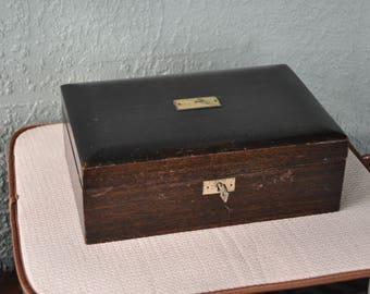 Old Wood Cigar/Tobacco Storage Box