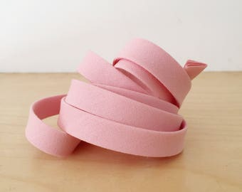 "Bias Tape in Kona Pink cotton 1/2"" double-fold binding- 3 yard roll"