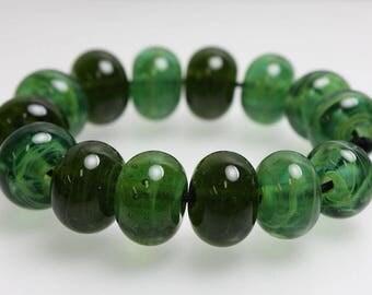 Green Lampwork Beads, Green Spacer Beads, Green Spacer Beads, Small Green Beads, Green Swirl Beads, Green Glass Beads, Kathys Bead Shop