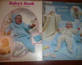 Vintage Columbia Minerva & Leisure Arts, Susan Bates Baby Crochet And Knitting Pattern Leaflets