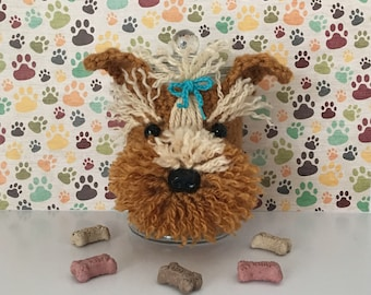 Dog Treat Jar - Miniature Yorkie - Cute Yorkie - Gifts for Dog People - I Love Yorkies - Yorkie Memorial - Pedigree Dog - Fur Mama - Fur Kid