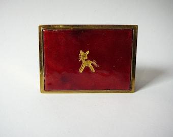 Schibensky Enamel Trinket Box with Dear motif