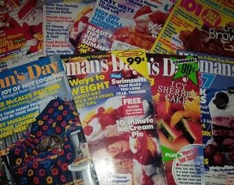 Woman's Day Magazine 1988-1994 Set of 8