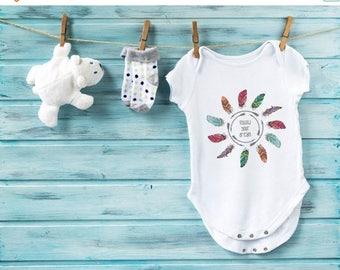 20% OFF SALE Baby shower gift, bohemian baby bodysuit Sizes: newborn - 18 months