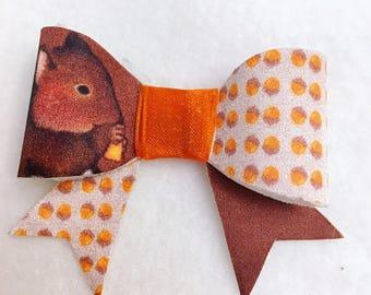Autumn squirrel bow