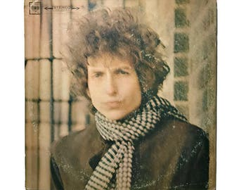 "Bob Dylan, ""Blonde on Blonde"", vinyl record album, 1960s, classic rock LP, double , two eye, rainy day women, leopard skin pill box hat"
