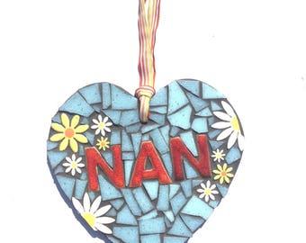 NAN mosaic heart