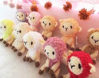 Sheep amigurumi crochet dolls