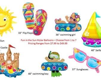 Fun in the Sun Balloons, Summer Fun Balloons