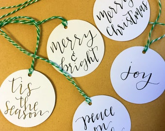 personalized gift tags for Christmas/holidays/birthdays | Christmas gift tags | custom holiday tags | set of 10