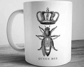 Vintage Style Queen Bee Coffee Mug