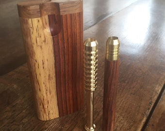 One of a Kind Cocobolo Dugout with One Hitter- The Perfect Gift!