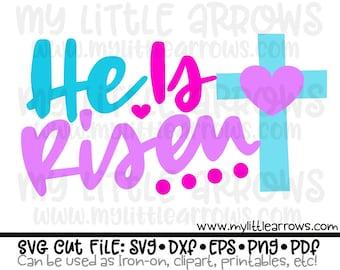He is risen svg - easter svg - christian svg - SVG, DXF, Eps, png Files -  religious easter svg - easter scripture svg - cute easter svg