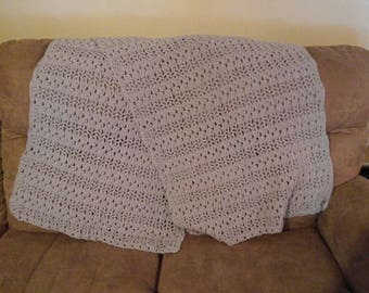 Large gray rectangle shawl