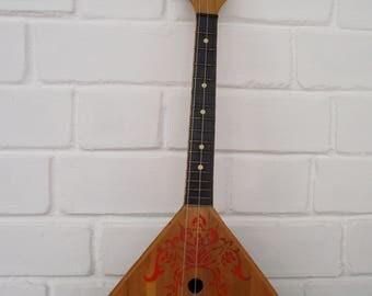 Soviet Folk Instrument, Russian balalaika, soviet vintage  3 - strings balalaika