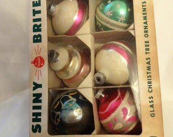 Christmas Vintage Ornament from Shiny Brite in box
