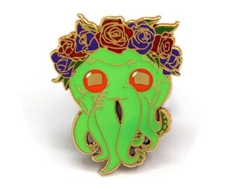 Cthulhu, Halloween Enamel Pin, Halloween Gift, Horror Pin, Horror Enamel Pin, Cthulhu Pin, Gift for Horror Lover, Halloween Horror