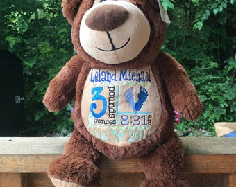 Baby Cubbies Bear Personalized Stuffed Animal