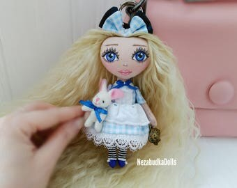 Alice in wonderland Personalized Dolls Alice Rag dolls Textile dolls Cloth dolls Interior doll Art doll Birthday Gifts for daughter Soft toy