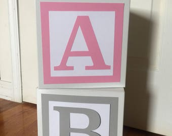 Jumbo Custom Baby Blocks // Name Blocks // Alphabet Blocks // Baby Shower