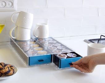 Keurig Storage Drawer, K-Cup Holder, Coffee Pod Organizer, Office Storage Drawer, Space Saving, Home Gift , Modern Design, Plexiglas Decor