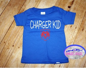 Charger Kid Toddler T Shirt (clothing) Perfect gift for the Dodge Charger car lover & their little boy or girl!