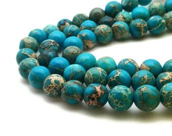 8mm Regalite Beads Light Blue Round 8mm Regalite 8mm Blue Jasper Aqua Terra Jasper Sea Sediment Jasper Impression Jasper Regalite Blue