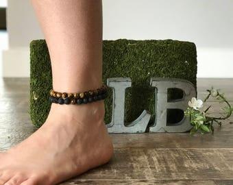 Multi- Layered Lavabead Diffuser bracelet, Diffuser Bracelet, Aromatherapy Bracelet, Essential Oils Bracelet, Diffuser, Stretchy bracelet