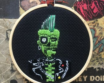 The Return of the Living Dead Zombie Punk Boy Embroidery