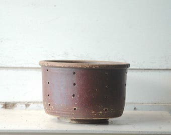 Antique French stoneware cheese mold
