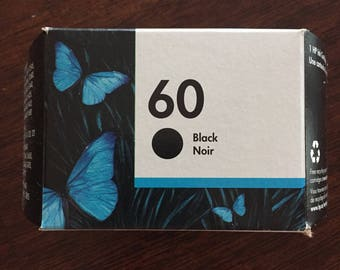 Genuine HP 60 ink cartridge- BLACK