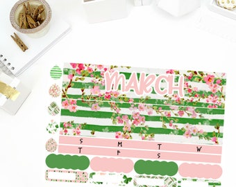 March Shamrock Monthly Sticker Kit! Perfect for your Erin Condren Life Planner, calendar, Paper Plum, Filofax!