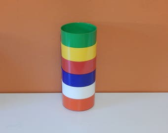 Heller Vignelli - 6 cereal bowls in 6 colors - rainbow heller set - designed by Massimo Vignelli