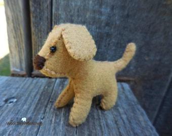 Felt stuffed puppy, small felt dog, stuffed dog, soft toy dog, felt stuffed animal